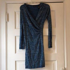 Sparkly Faux Wrap Dress